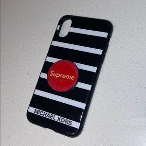 iPhone x MK case. Supreme pop included.